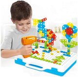 Kids Creative Electric Drill Screw Puzzle Set-Stemlix