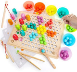 Wooden Go Games Set Dots Shuttle Beads Board Games