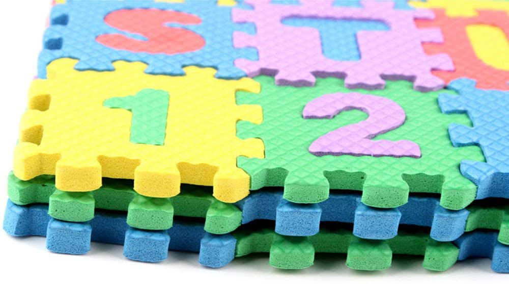 36PCS Educational Numbers Letters Puzzle Play Mat