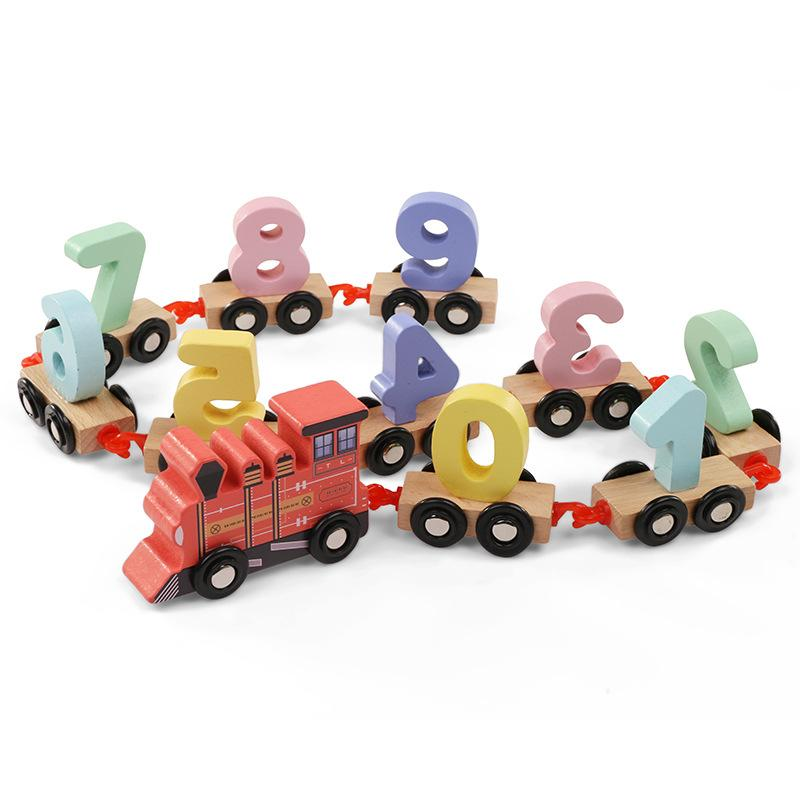 Wooden Number 0-9 Train Toy