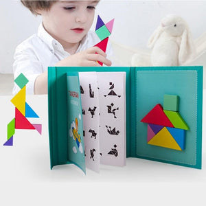 Wooden Magnetic Tangram
