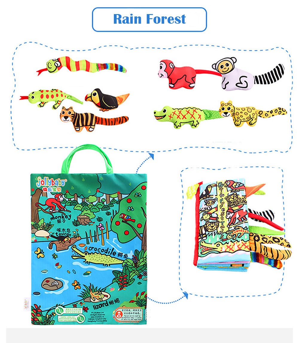 Early Education Puzzle Toy Animal Doll Cloth Book