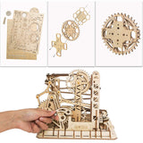 DIY Assembled 3D Wooden Marble Run Toy Puzzle