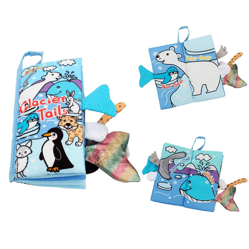 New Animals Tail 3D Soft Cloth Books Rustle Sound Montessori Educational Toys
