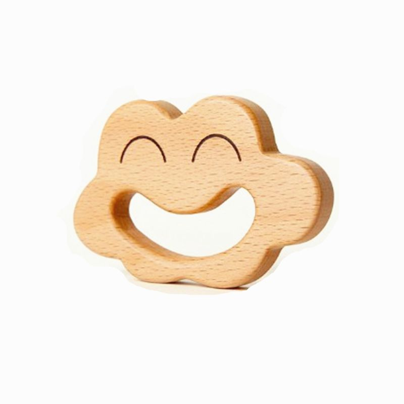 Wooden Teether Wooden Rattles Baby Toys