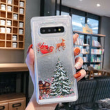 Christmas Bling Liquid Glitter Shiny Luxury Samsung Protective Case