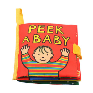 Peek-a-boo Quiet Soft Cloth Book Montessori 3D Sound Book
