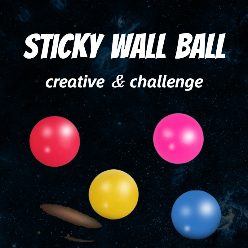 Very challenging decompression ball, sticky wall ball