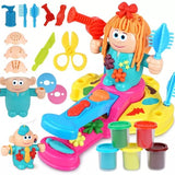 DIY Colorful Mud Hairstylist Toys