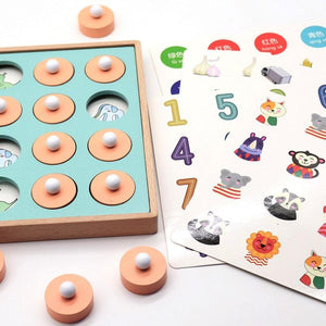 Wooden Montessori Memory Matching Game - Wooden Puzzle Toys