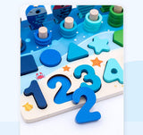 Wooden Math Fishing Board Toy - Wooden Puzzle Toys