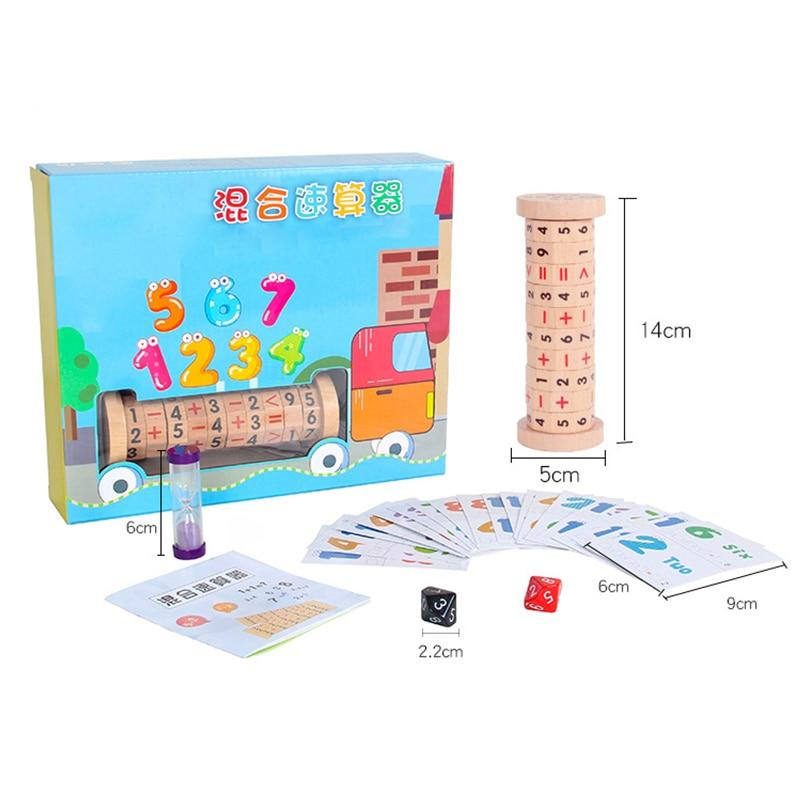 Wooden Manipulative Number Counting Toy - Wooden Puzzle Toys