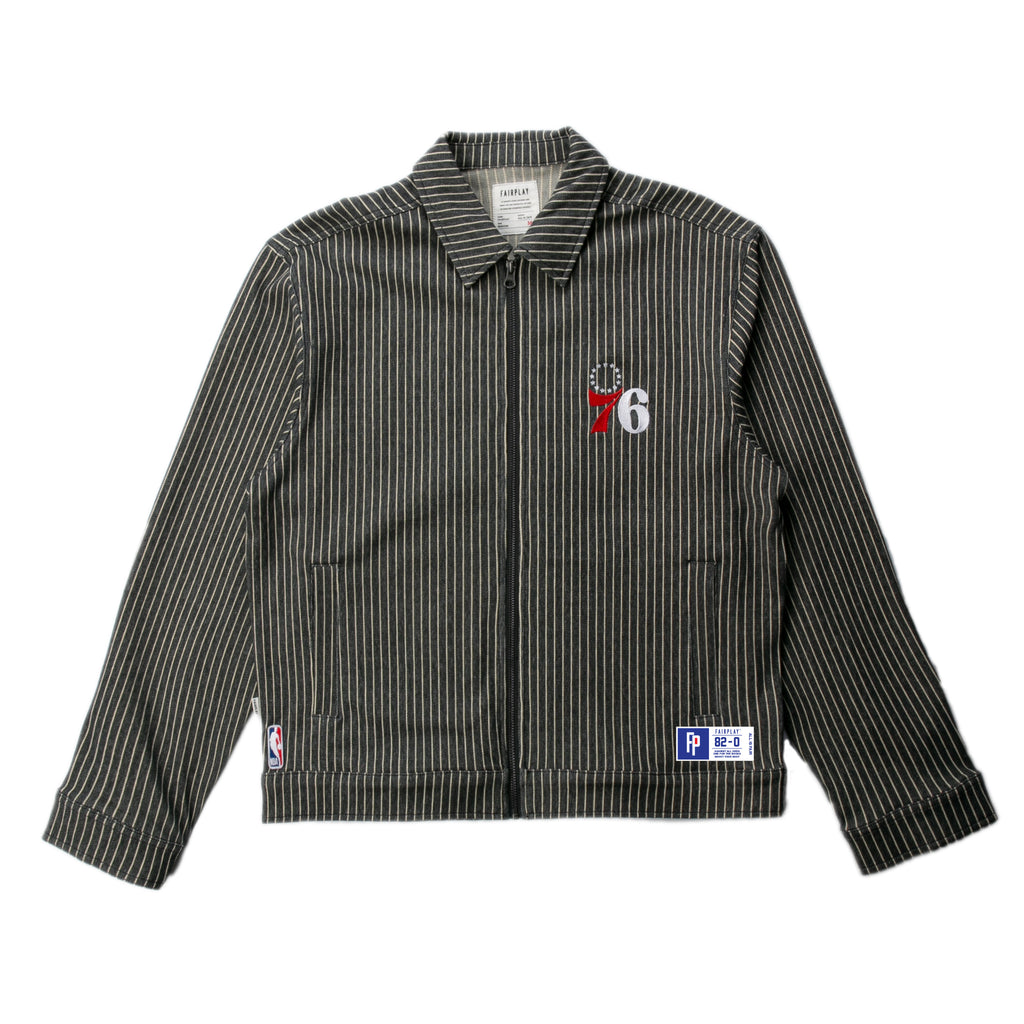 Philadelphia 76ers Pinstripe Cotton Jacket