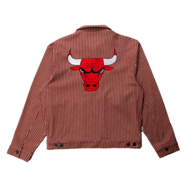 Chicago Bulls Pinstripe Cotton Jacket | PREORDER