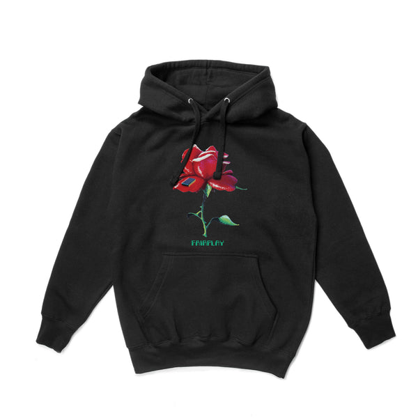 Digital Rose Hood - Womens - Black