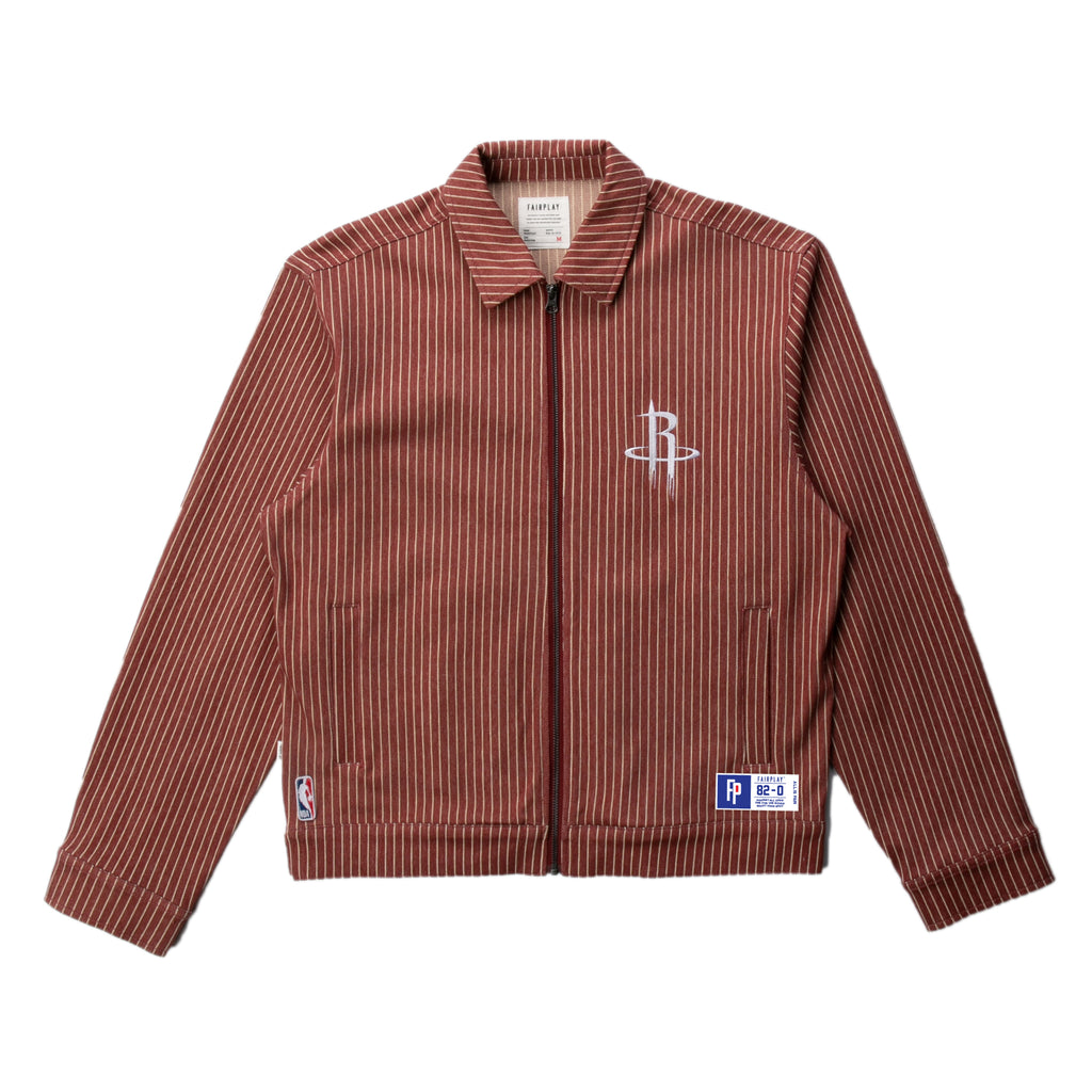 Houston Rockets Pinstripe Cotton Jacket