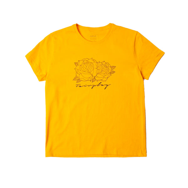 Roses Script - Womens - Gold