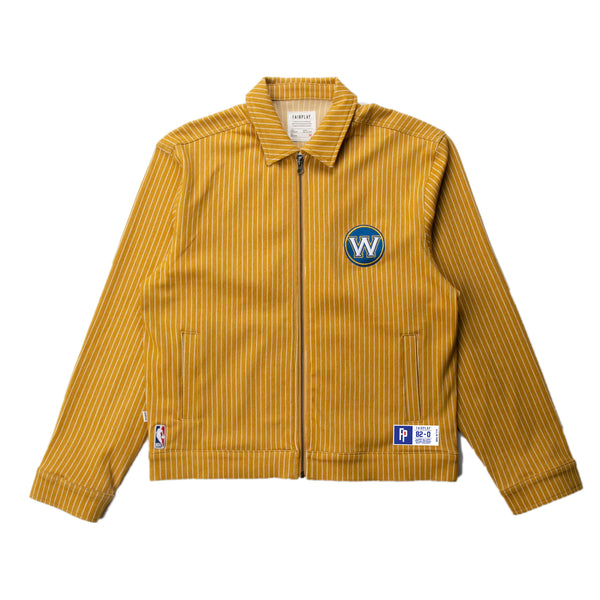 Golden State Warriors Pinstripe Cotton Jacket | PREORDER