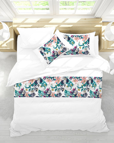Warm Floral King Duvet Cover Set