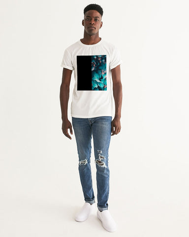 Teal Floral Men's Graphic Tee