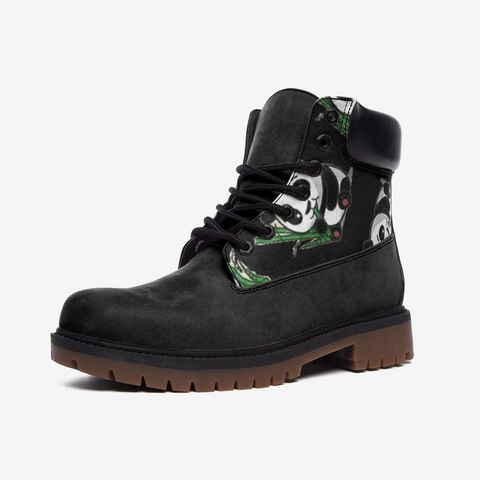 Panda & bamboo Casual Leather Lightweight boots