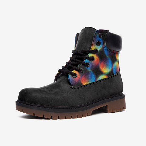 Psychedelic Casual Leather Lightweight boots