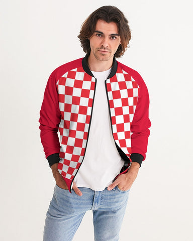 checkered Men's Bomber Jacket