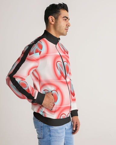 No love 2 Men's Stripe-Sleeve Track Jacket