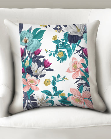 "Warm Floral Throw Pillow Case 20""x20"""