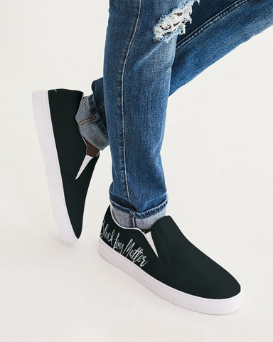 BLACK LIVES MATTER Men's Slip-On Canvas Shoe
