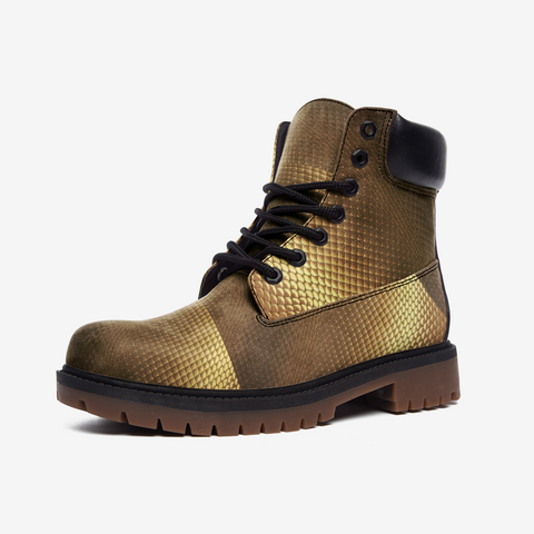 Gold block Casual Leather Lightweight boots
