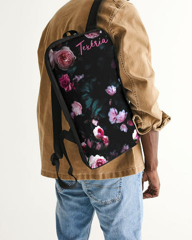 Dark Floral Slim Tech Backpack