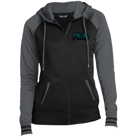 Teal Philly Ladies Full-Zip Hooded Jacket