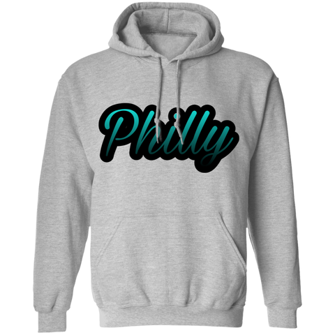 Teal Philly Mens Pullover Hoodie
