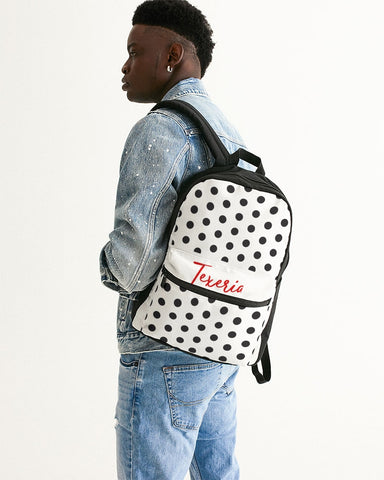 Polka Dot Small Canvas Backpack