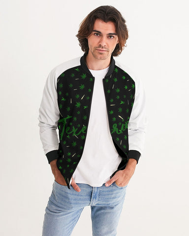 Hemp Leaves Men's Bomber Jacket