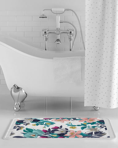 Warm Floral Bath Mat
