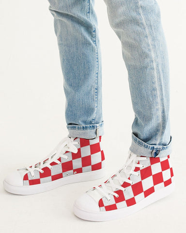 checkered Men's Hightop Canvas Shoe