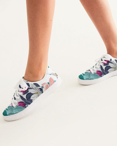 Warm Floral Women's Faux-Leather Sneaker