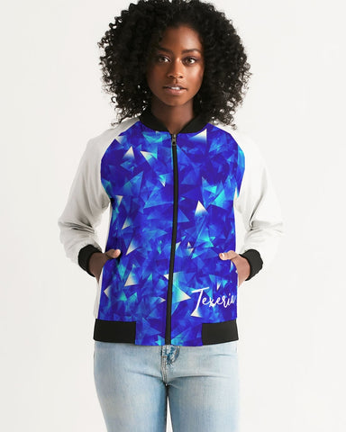 Crystal Blue Women's Bomber Jacket