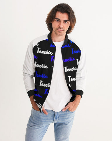 Texeria Monogram Blue Men's Bomber Jacket