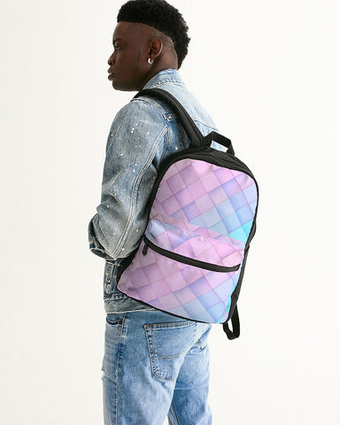 Pastel diamonds Small Canvas Backpack