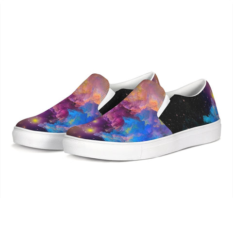 Colorful Smoke Slip-On Canvas Shoe