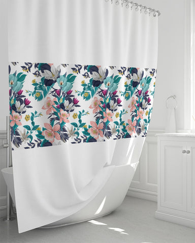 "Warm Floral Shower Curtain 72""x72"""