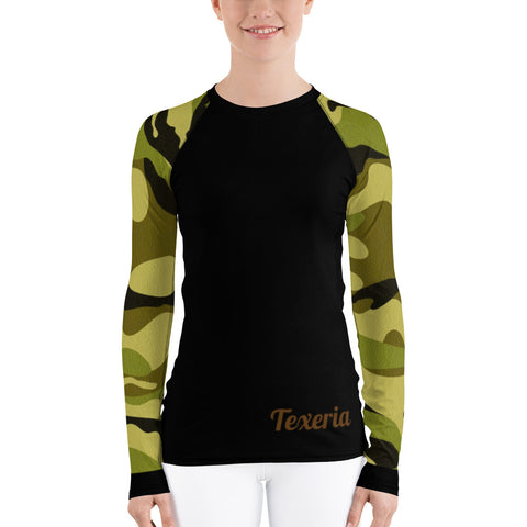 Camo 2 (green)  Women's Long Sleeve Dry Fit