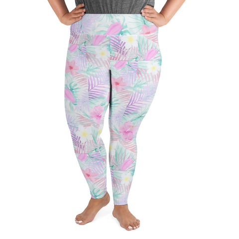 Spring Flowers Plus Size Leggings