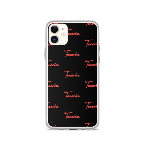 Red Script Logo 2 iPhone Case