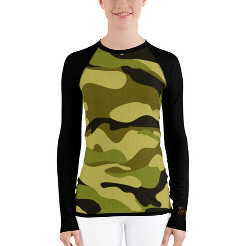 Camo (green) Women's Long Sleeve Dry Fit
