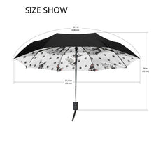 Load image into Gallery viewer, Three Folding French Bulldog Umbrella Automatic Compact Anti-UV Rain Sunshine Windproof Umbrellas For Women Ladies Fashion