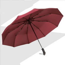 Load image into Gallery viewer, Wind Resistant Folding Automatic Umbrella Rain Women Auto Luxury Big Windproof Umbrellas Rain For Men Black Coating 10K Parasol